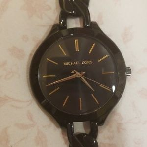 Michael Kors Other - Michael Kors Black Bracelet Watch